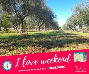 I love weekend by visit mola di bari bike and drink