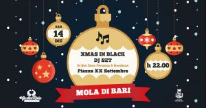 Dj set Xmas in black dj set gustiamola d'inverno 2019