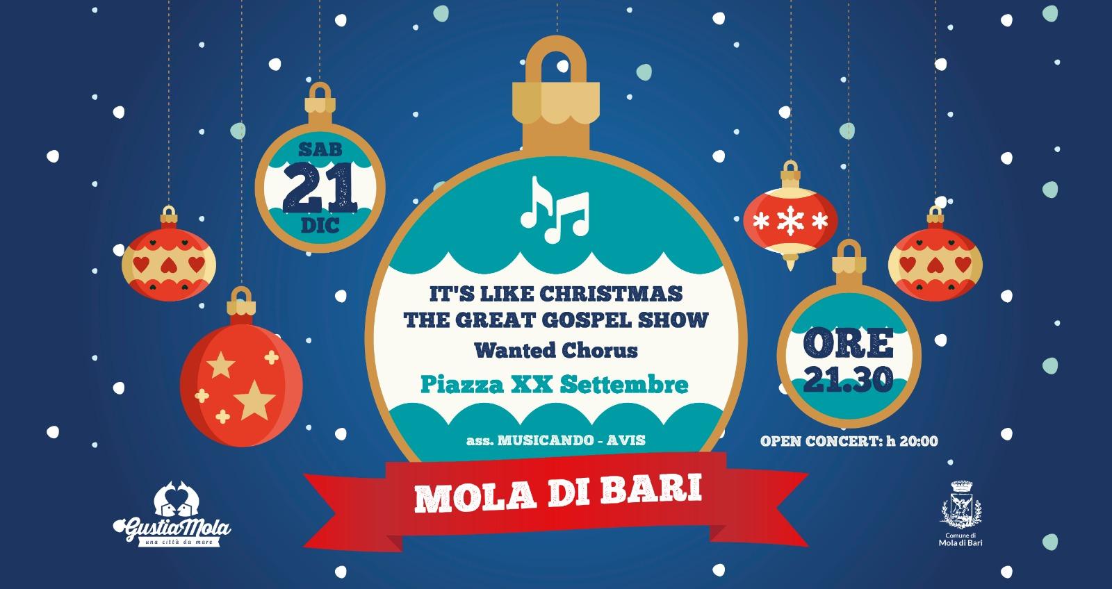 The great gospel show 21 dicembre gustiamola